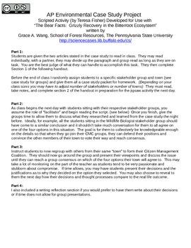 Grizzly Bear Reintroduction Case Study Lesson Script