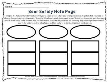 Grizzly Bear Safety: Functional Text Features and Author's Purpose