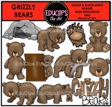 Grizzly Bears Clip Art Bundle {Educlips Clipart}