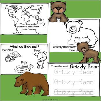 Grizzly Bears Mini Book for Early Readers