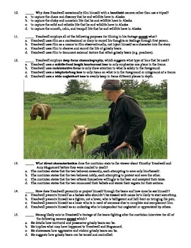 Grizzly Man Film (2005) 15-Question Multiple Choice Quiz