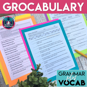 Grocabulary Bundle: Subjects, Predicates, Phrases, Clauses, & Sentence Types