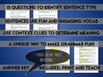 Grocabulary: Sentence Construction and Types Practice