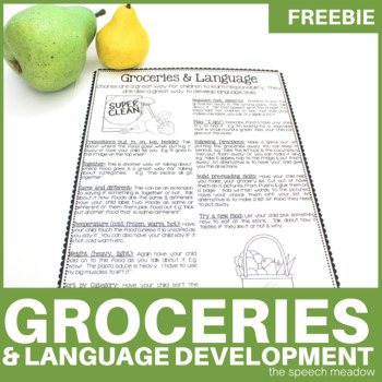Groceries and Language: Using Groceries to help foster language development