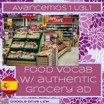Grocery Ad Food Vocab: Avancemos 1 3.1