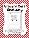 Grocery Cart Vocabulary