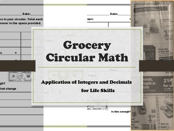 Grocery Circular Math