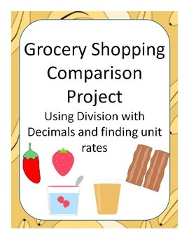 Grocery Comparison using Division with Decimals or Unit Rate