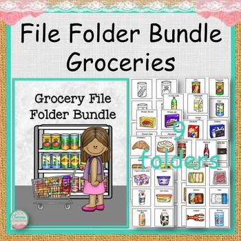 Grocery File Folder Bundle