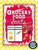 Grocery Food Sorts: Work Tasks or File Folders