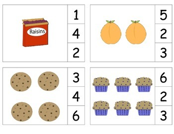 Grocery Foods Count & Clip 1-20