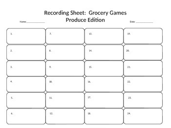 Grocery Games:  Produce Edition - Proportions and Unit Rates Task Cards