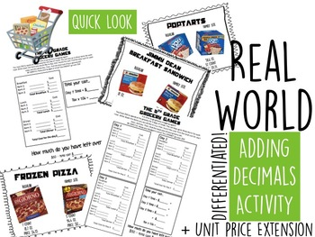 Grocery Games: Real World Adding and Subtracting Decimals