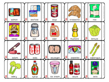 Articulation Game: Grocery Grab shopping game