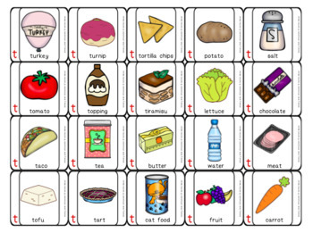 Articulation Game:Grocery Grab Shopping game #2 for speech and language therapy