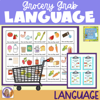 Language Game: Grocery Grab shopping game