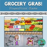Grocery Grab! digital game for TELETHERAPY, speech therapy, categories, vocab