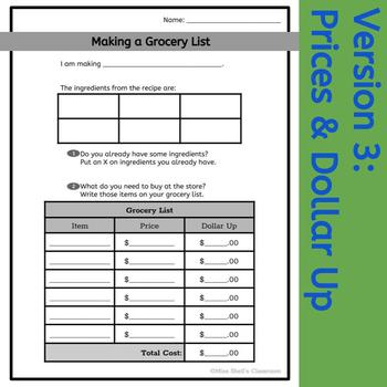 Grocery List: Life Skills and CBI