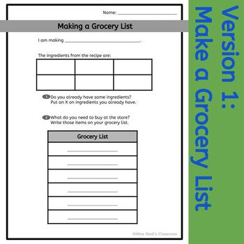 Grocery List: Life Skills and CBI