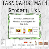 TASK CARDS-MATH Grocery Lists