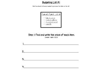 Grocery Math - Budgeting a List