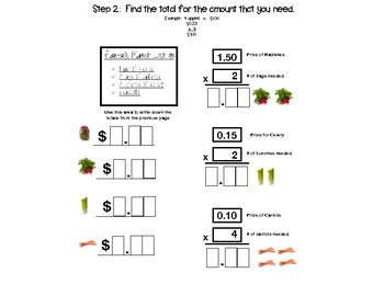 Grocery Math - Budgeting a List - Letter Boxes