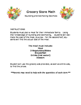 Grocery Math -- Rounding and Estimating Decimals