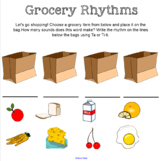 Grocery Rhythms: An activity to practice Ta and Ti-ti