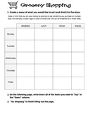 Grocery Shopping Activity / Adding and Subtracting Decimals *Common Core*