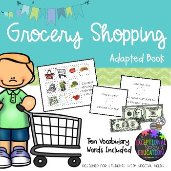 Grocery Shopping Adapted Book for Special Education