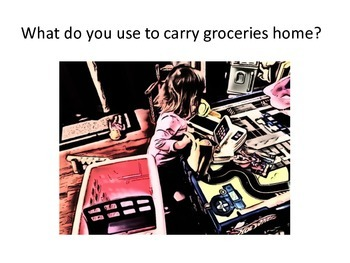 Grocery Shopping - Bilingual Play Based Activity for Language Therapy