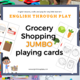 Grocery Shopping Jumbo Playing Cards -great for ESL presch