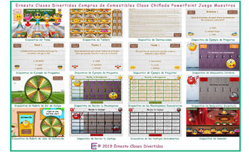 Grocery Shopping Kooky Class Spanish PowerPoint Game-An Original by Ernesto
