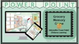 Grocery Shopping Memory Game   Interactive Powerpoint   Distance Learning