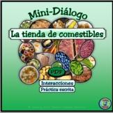 Food Topic: Grocery Shopping Mini-Dialogue - Diálogo en la tienda de comestibles