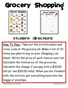 grocery list prices calculator