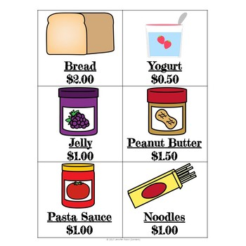 Grocery Shopping- Money Centers (Minimal Prep Work)