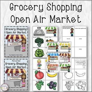 Grocery Shopping Open Air Market Binder Tasks