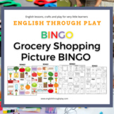 Grocery Shopping Picture Bingo -great for ESL lessons