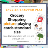 Grocery Shopping Picture Playing Cards -standard size - gr