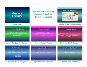 Grocery Shopping PowerPoint Slideshow