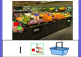 Grocery Shopping Produce Core word Get with Symbolstix and