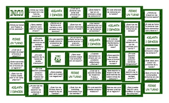 Grocery Shopping Spanish Board Game