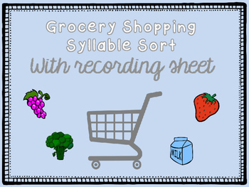 Grocery Shopping Syllable Sort