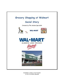 Grocery Shopping at Walmart Autism Social Story