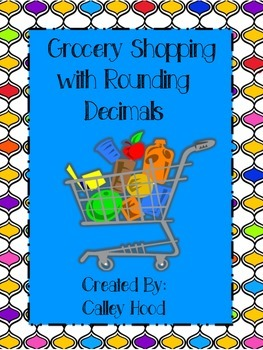 Math Grocery Shopping Activity with Rounding Decimals