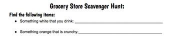 Grocery Store Activities