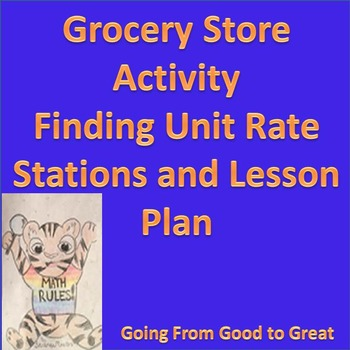 Grocery Store Activity- Finding Unit Rates Lesson Plan and