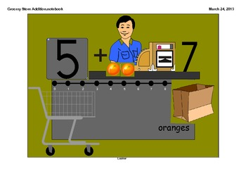 SMARTboard Grocery Store Addition: A Healthy Foods Math Activity