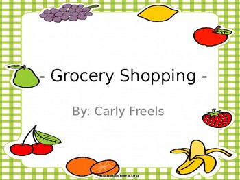 Grocery Store Budgeting